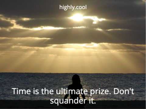Time is the ultimate prize