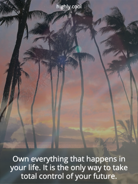 Own Everything About Your Life
